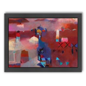 Americanflat ''Pink Moroccan Haze'' Framed Wall Art