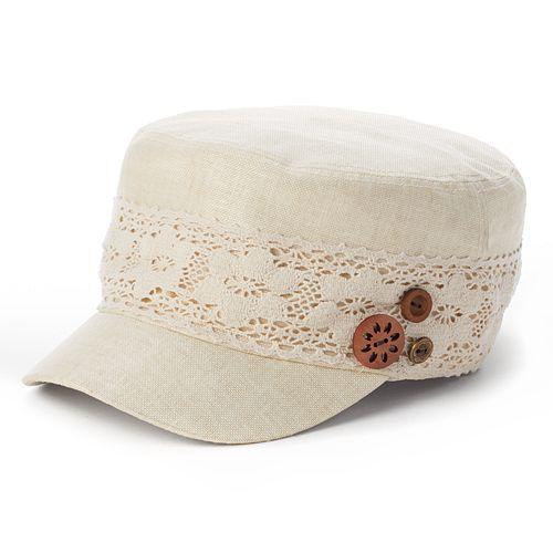 SONOMA Goods for Life™ Crochet Button Cadet Hat - Women's