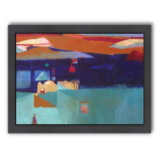 Americanflat ''Pink Gourd'' Framed Wall Art