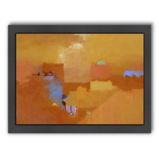 Americanflat ''Parched Yellows'' Framed Wall Art