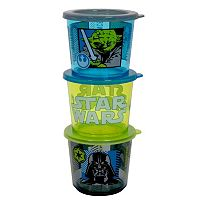 Star Wars Kid's 3 pc Melamine Snack Container Set