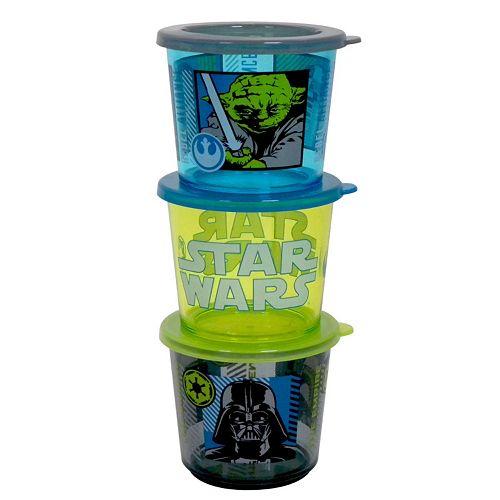 Star Wars Kid's 3-pc. Melamine Snack Container Set