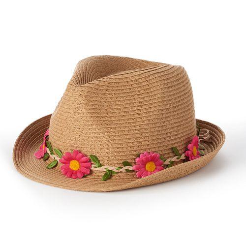 Mudd® Floral Fedora - Women s 8b5d0949a5b