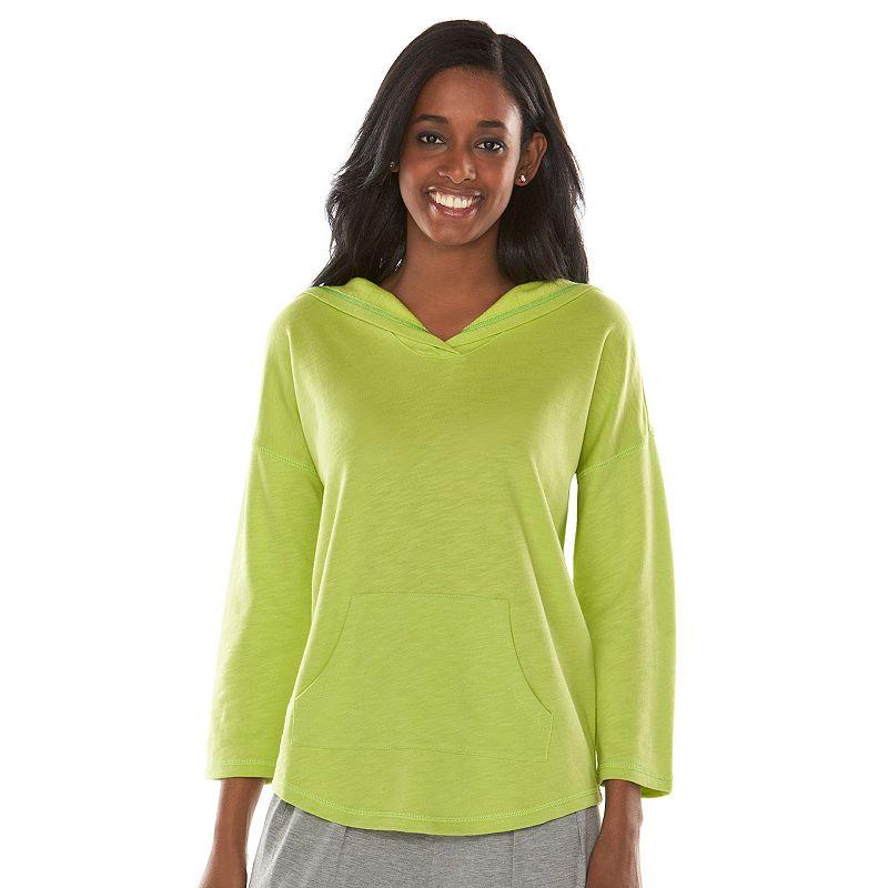 Chaps Hooded French-Terry Sweatshirt - Women's