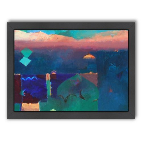 Americanflat ''Meknes Green'' Framed Wall Art