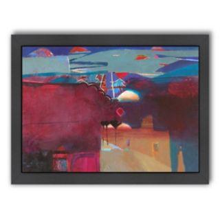 Americanflat ''Marrakech Reds'' Framed Wall Art