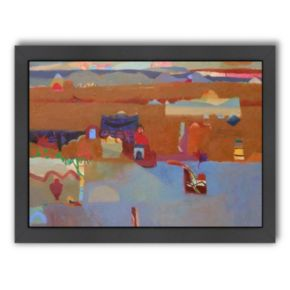 Americanflat ''Lakeside Dwellings'' Framed Wall Art