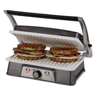 Oster DuraCeramic 2-in-1 Panini Maker and Grill