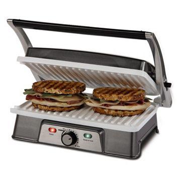 Oster DuraCeramic 2-in-1 Panini Maker & Grill