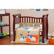 Dream On Me 2 pc Reversible Jungle Babies Mini Crib Set