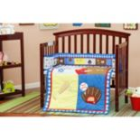 Dream On Me 2 pc Reversible All-Star Athlete Mini Crib Set