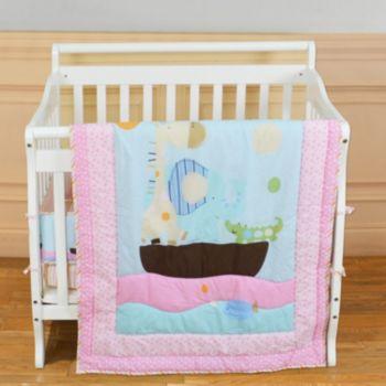 Dream On Me 2-pc. Reversible Sea Friends Mini Crib Set