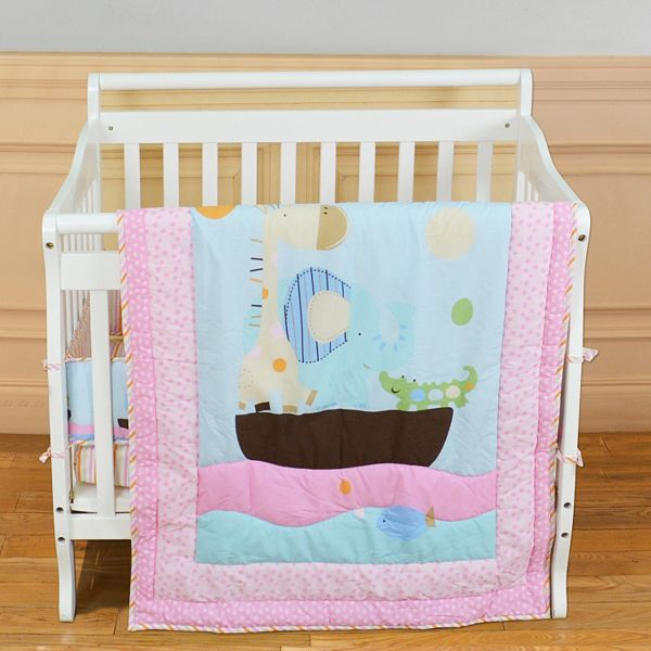 Pc Reversible Sea Friends Mini Crib Set, Dream On Me Bedding