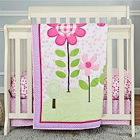 Dream On Me 2 pc Reversible Spring Garden Mini Crib Set