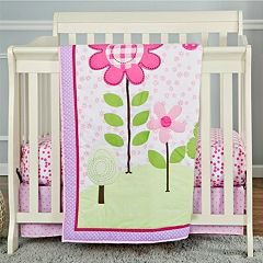 Dream On Me 2 pc Reversible Spring Garden Mini Crib Set