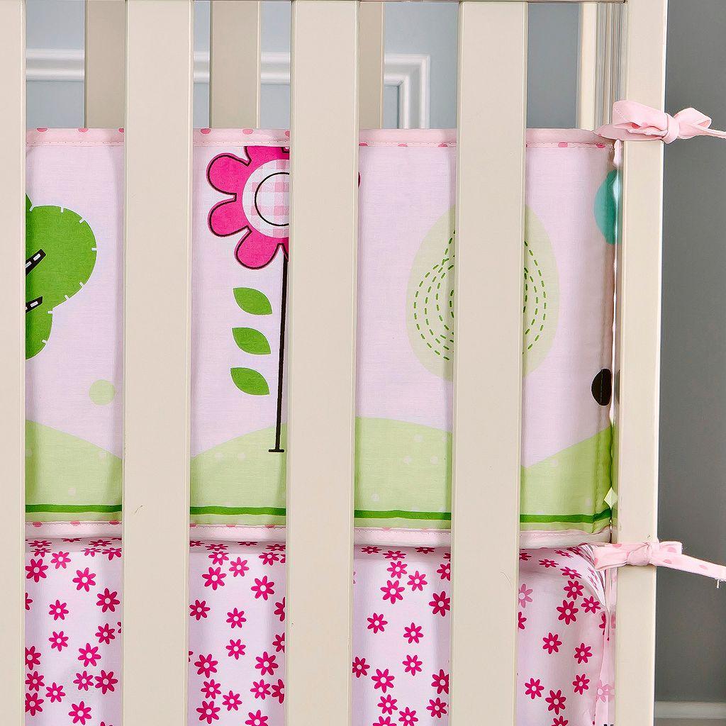 Dream On Me 2-pc. Reversible Spring Garden Mini Crib Set