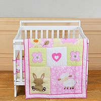 Dream On Me 2-pc. Reversible Naptime Friends Mini Crib Set