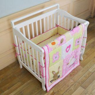 Dream On Me 2-pc. Reversible Naptime Friends Mini Crib Set