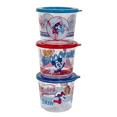 Disney Mickey Mouse Kid's 3 pc Melamine Snack Container Set by Jumping Beans®