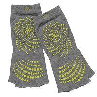 Gaiam 2-pk. Toeless Grippy Yoga Socks