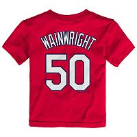 Toddler Majestic St. Louis Cardinals Adam Wainwright Player Name and Number Tee