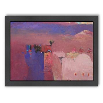Americanflat ''Draa Valley Mist'' Framed Wall Art