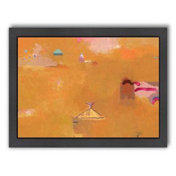 Americanflat ''Desert Yellows'' Framed Wall Art