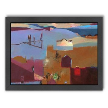 Americanflat ''Cypresses in the Atlas Foothills'' Framed Wall Art