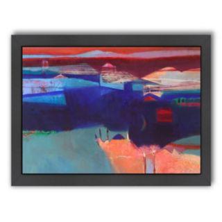 Americanflat ''Blue Swathe'' Framed Wall Art