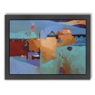 Americanflat ''Blue Atlas'' Framed Wall Art