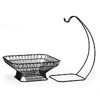 Mikasa Gourmet Basics French Countryside 2-pc. Fruit Basket with Banana Hanger Set