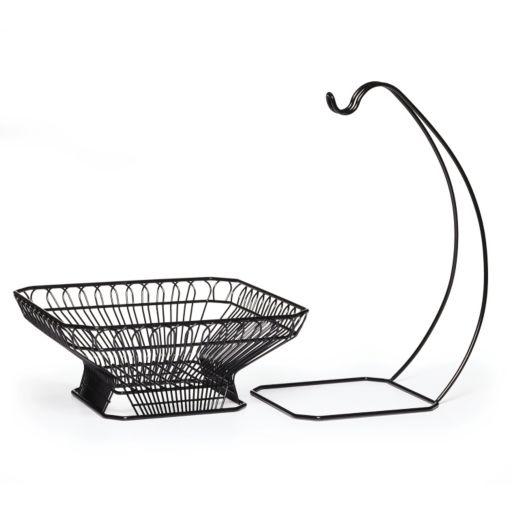 Mikasa Gourmet Basics French Countryside 2-pc. Fruit Basket with Banana Hanger Set