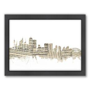 Americanflat ''Sydney, Australia Music Cityscape 2'' Framed Wall Art