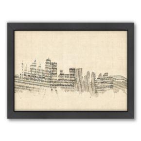 Americanflat ''Sydney, Australia Music Cityscape'' Framed Wall Art