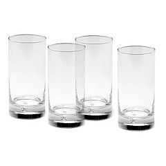 Mikasa Gourmet Basics Disco Highball 4 pc Glass Set