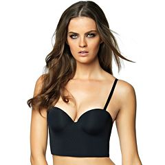 82fb56d354 Jezebel Bra  Essentials Longline Convertible Strapless Bra 6043. Bare Black