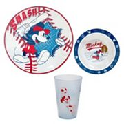 Disney Mickey Mouse Kid's 3 pc Dinnerware Set by Jumping Beans®