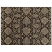 StyleHaven Legacy Airbrush Floral Ikat Wool Rug