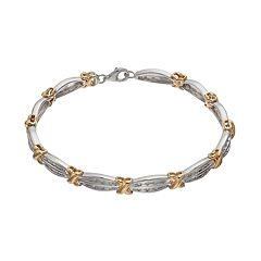 1/2 Carat T.W. Diamond 14k Gold Over Silver & Sterling Silver X Tennis Bracelet