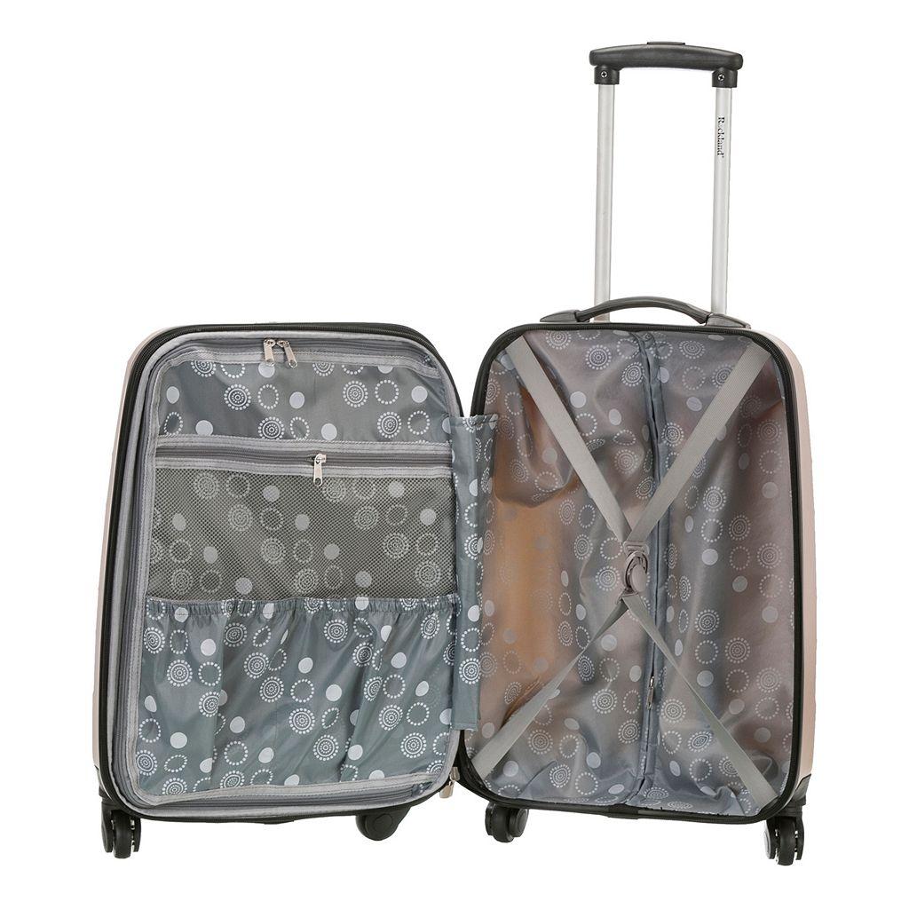 Rockland Melbourne 20-Inch Hardside Wave Spinner Carry-On Luggage