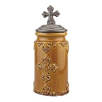 Stonebriar Collection Medium Cross Canister
