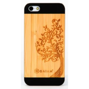Gaiam iPhone 5 / 5S Bamboo Finish Cell Phone Case