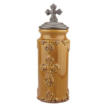 Stonebriar Collection Large Cross Canister