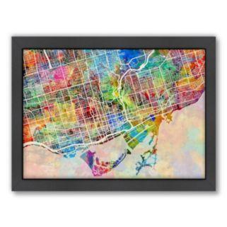 Americanflat Michael Tompsett ''Toronto Street Map IV'' Framed Wall Art