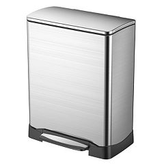 EKO Stainless Steel 13-Gallon Rectangular Neo-Cube Step Trash Can