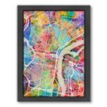 Americanflat Michael Tompsett ''Philadelphia Street Map IV'' Framed Wall Art
