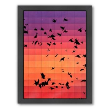 Americanflat Geometric Birds Framed Wall Art