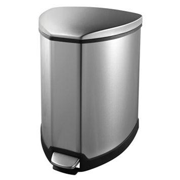 EKO Stainless Steel 1.25-Gallon Grace Step Recycling Bin