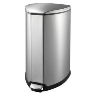 EKO Stainless Steel 9-Gallon Grace Step Trash Can