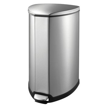 EKO Stainless Steel 9-Gallon Grace Step Trash Can